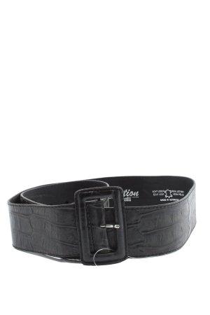Selection Vanzetti Cinturón de cuero negro estilo «business»