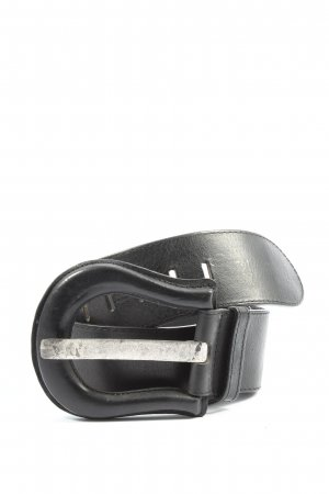 Selection Vanzetti Leather Belt black casual look