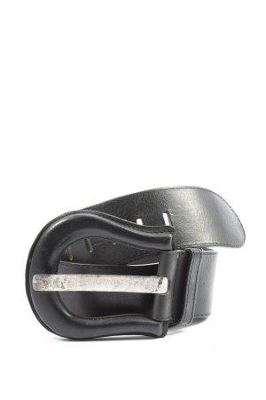 Selection Vanzetti Cinturón de cuero negro look casual