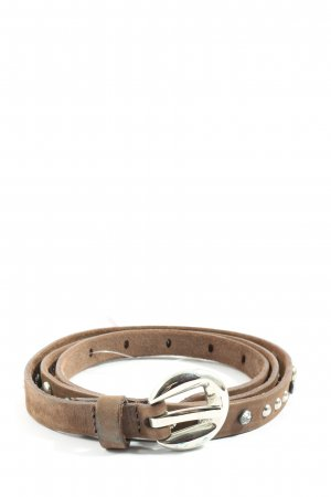 Selection Vanzetti Cinturón de cuero marrón look casual