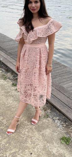 SELF PORTRAIT Asymmetrisches Kleid aus Spitze
