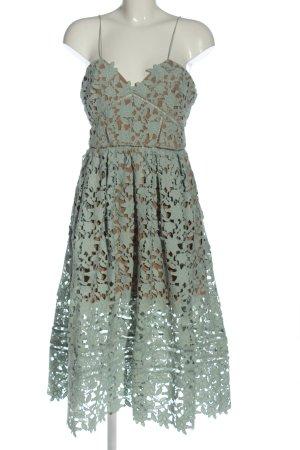 self - portrait Lace Dress khaki allover print casual look