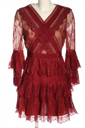 self - portrait Lace Dress red casual look