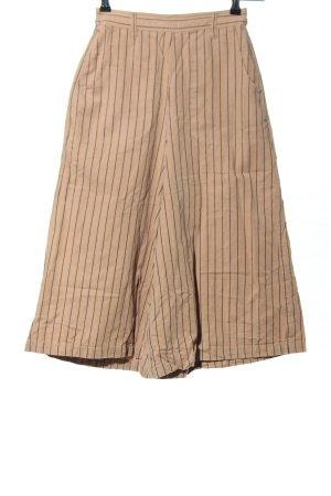 Pantalon 3/4 blanc cassé-noir motif rayé style d'affaires