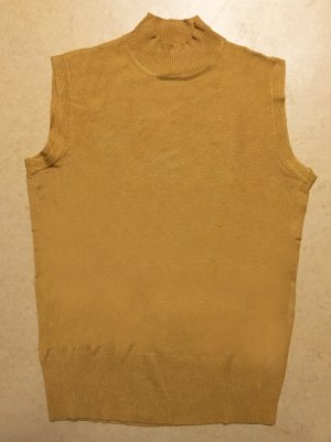 selfgelbes Strick Shirt, ärmellos, Gr. L