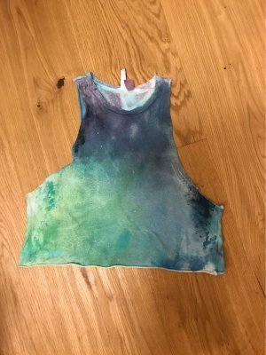 H&M Divided Maglia batik blu-verde bosco