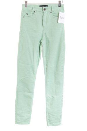 Selfnation Hoge taille jeans munt simpele stijl