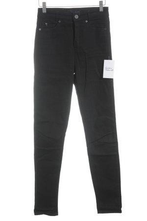 Selfnation Hoge taille jeans zwart simpele stijl