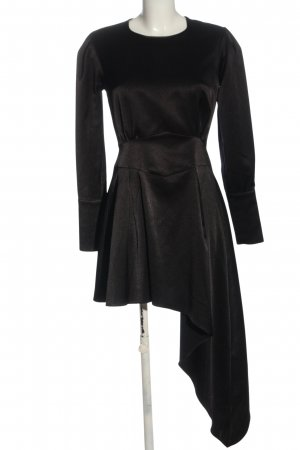 SELMACILEK Robe bas asymétrique noir moucheté élégant