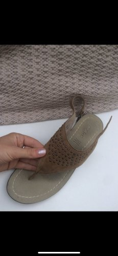 MARC Sandalo toe-post color cammello-beige Pelle
