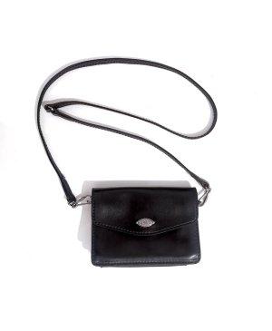 Selten The Bridge Echtleder Pochette schwarz Luxus Qualität