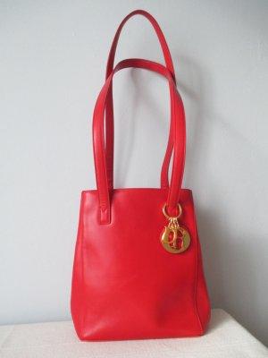 Seltene authentische Vintage Christian Dior Leder Schultertasche