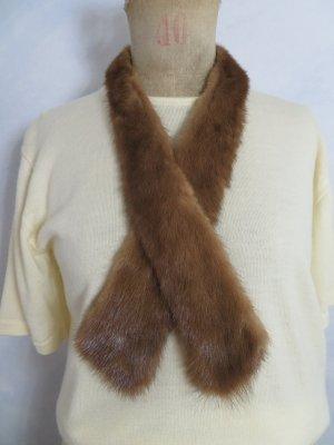 Vintage 55 Cravate ascot marron clair