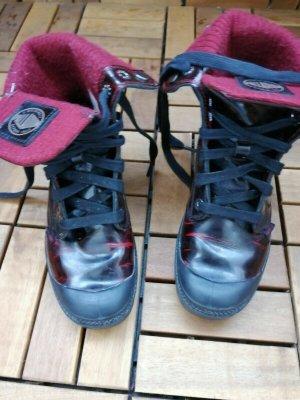 Palladium Chukka boot noir-bordeau cuir