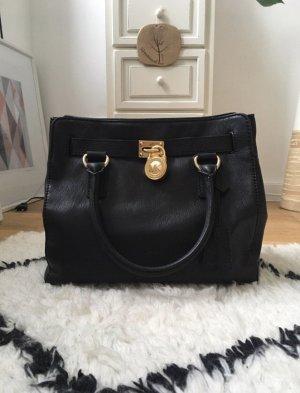 Seltene Michael Kors Hamilton Tasche Handtasche MD NS schwarz