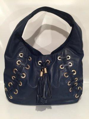 Seltene Michael Kors Hobo Bag mit Ringnieten - blaues Leder