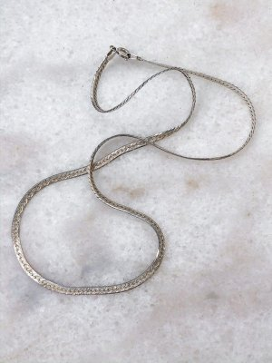 American Vintage Necklace silver-colored-light grey real silver