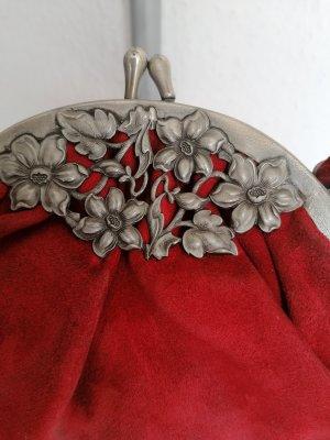 Bolsa de hombro rojo oscuro Cuero