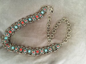 Chain Belt brick red-light blue metal