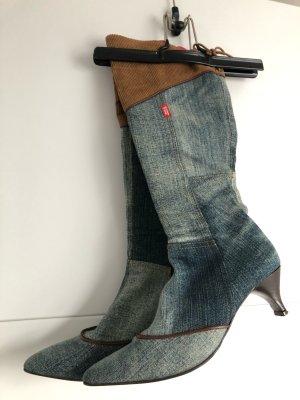 Seltenheit Stiefel Miss Sixty Jeans Leder Gr.37