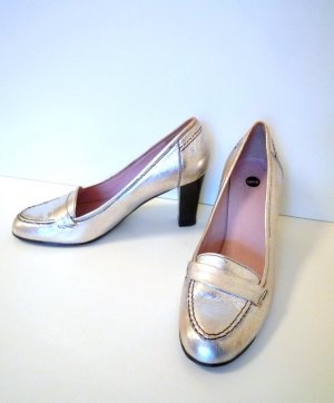 *selve* Goldfarbene Pumps, Court Shoe-Style, Blockabsatz, TOP-Zustand, Gr. 39