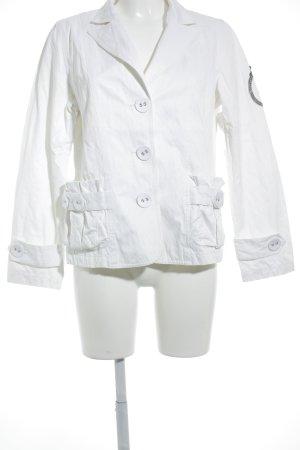 Sem per lei Jeansjacke weiß-wollweiß schlichter Stil