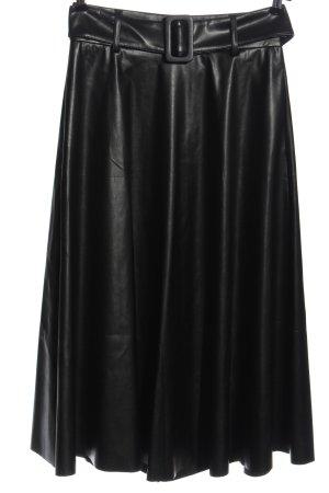 Sem per lei Faux Leather Skirt black elegant