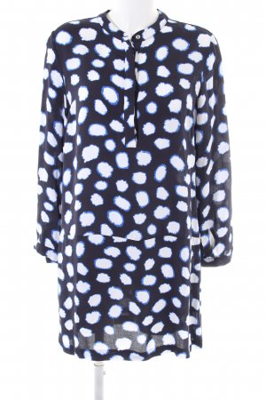 Sem per lei Oversized Bluse blau-weiß Punktemuster Casual-Look