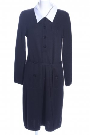 Sem per lei Woolen Dress blue-white business style