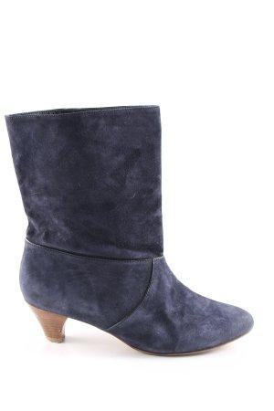 Keil-Stiefeletten blau Casual-Look