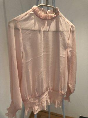 H&M Blouse à col montant rose clair-rosé