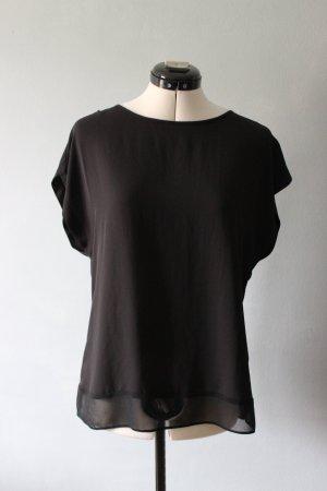 Semi-transparentes schwarzes Shirt