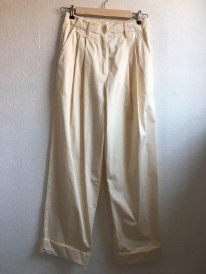 Semicouture Pantalon taille haute crème-beige clair