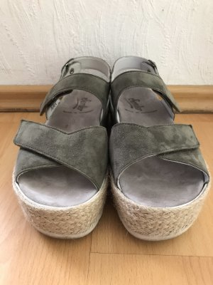 Semler Espadrille Sandals green grey