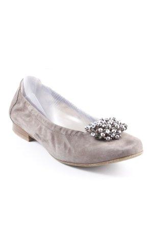 Semler faltbare Ballerinas graubraun Casual-Look