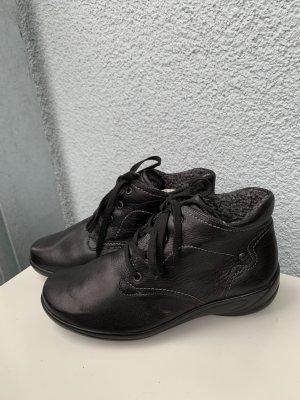 Semler Halb Schuhe Stiefel gr 4 1/2 schwarz Echt Leder