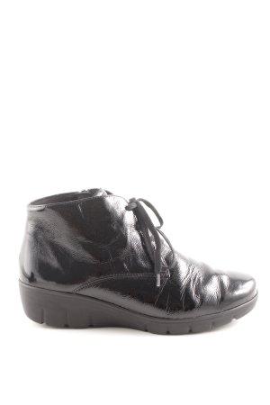 Semler Reißverschluss-Stiefeletten schwarz Casual-Look