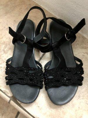 Semler Sandalen schwarz Leder 5