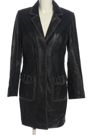 SEMPRE Długi płaszcz czarny W stylu casual