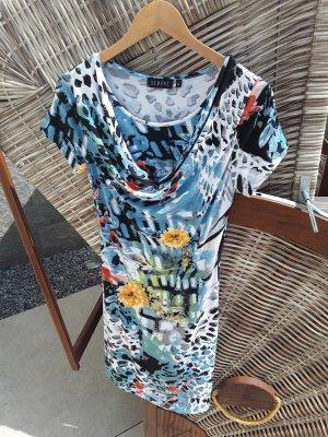 SEMPRE , Hübsches T-Shirt-Kleid mit Wasserfallausschnitt, Größe  XS