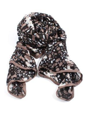 Sence Gebreide sjaal bruin-wit volledige print casual uitstraling