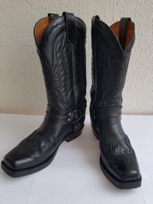Sendra Botki w stylu western czarny