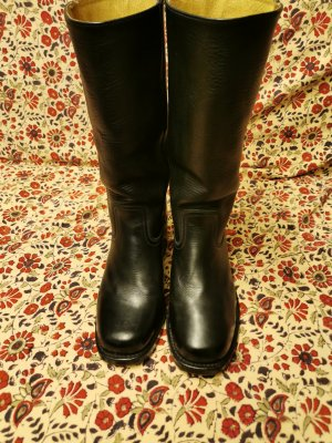Sendra Biker Boots black leather