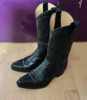 Sendra Buty w stylu western czarny-kremowy