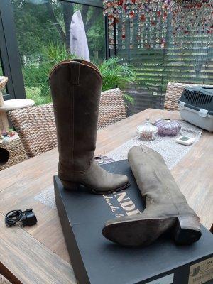 Sendra Western Boots khaki leather