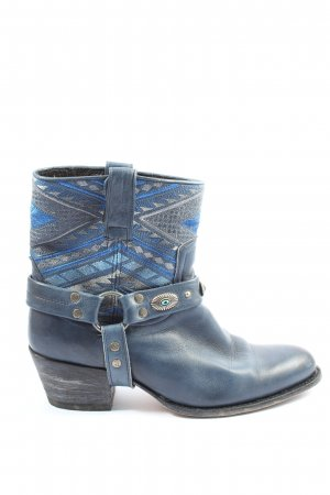Sendra Western-Stiefeletten blau grafisches Muster Casual-Look