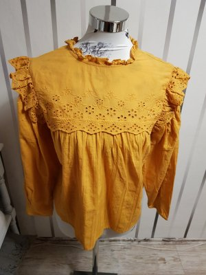 Clockhouse Blouse à volants jaune
