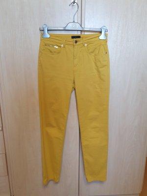 123 Paris Spodnie z wysokim stanem żółty neonowy