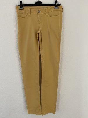 Mac Spodnie z pięcioma kieszeniami ciemny żółty Bawełna