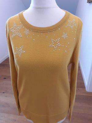 Hucke Crewneck Sweater light orange viscose